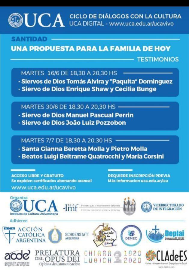 Manifesto della conferenza presentata all'UCA - Instituto de Cultura Universitria di Buenos Aires