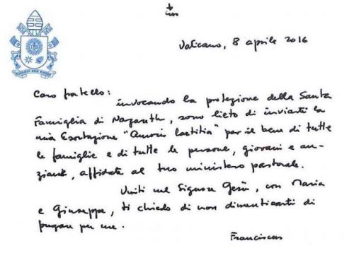 Breve sintesi di Amoris Laetitia ( di Salvatore Cernusco- agenzia Zenit), La gioia dell'amore