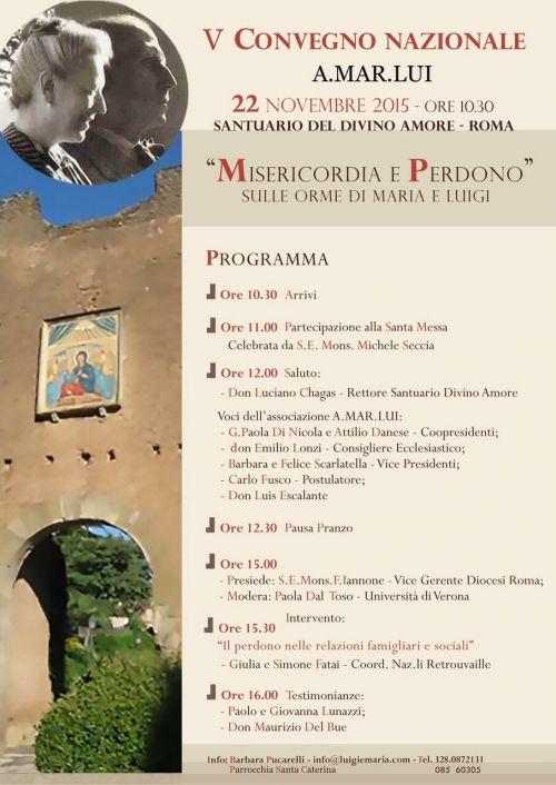 V convegno nazionale AMARLUI al Divino Amore a Roma (tomba dei Beati) il prossimo 22 novembre